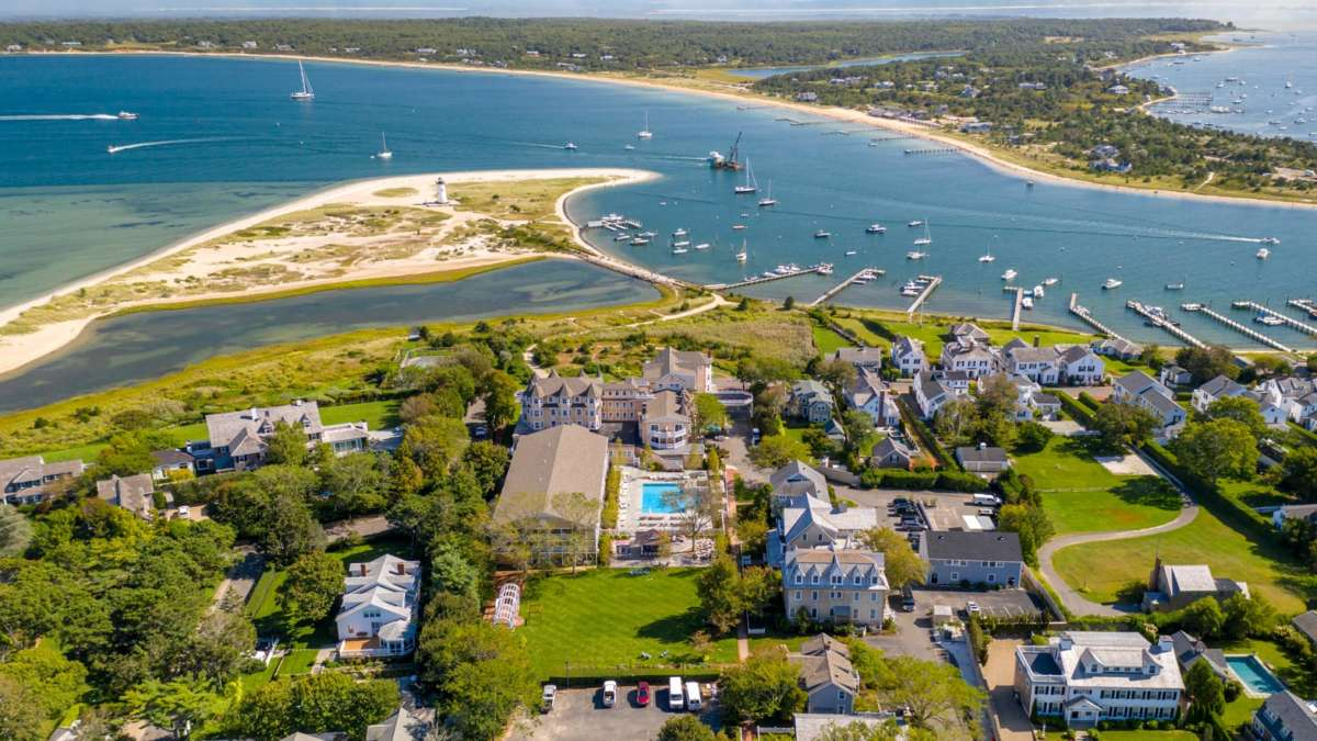 Birds eye view of Edgartown