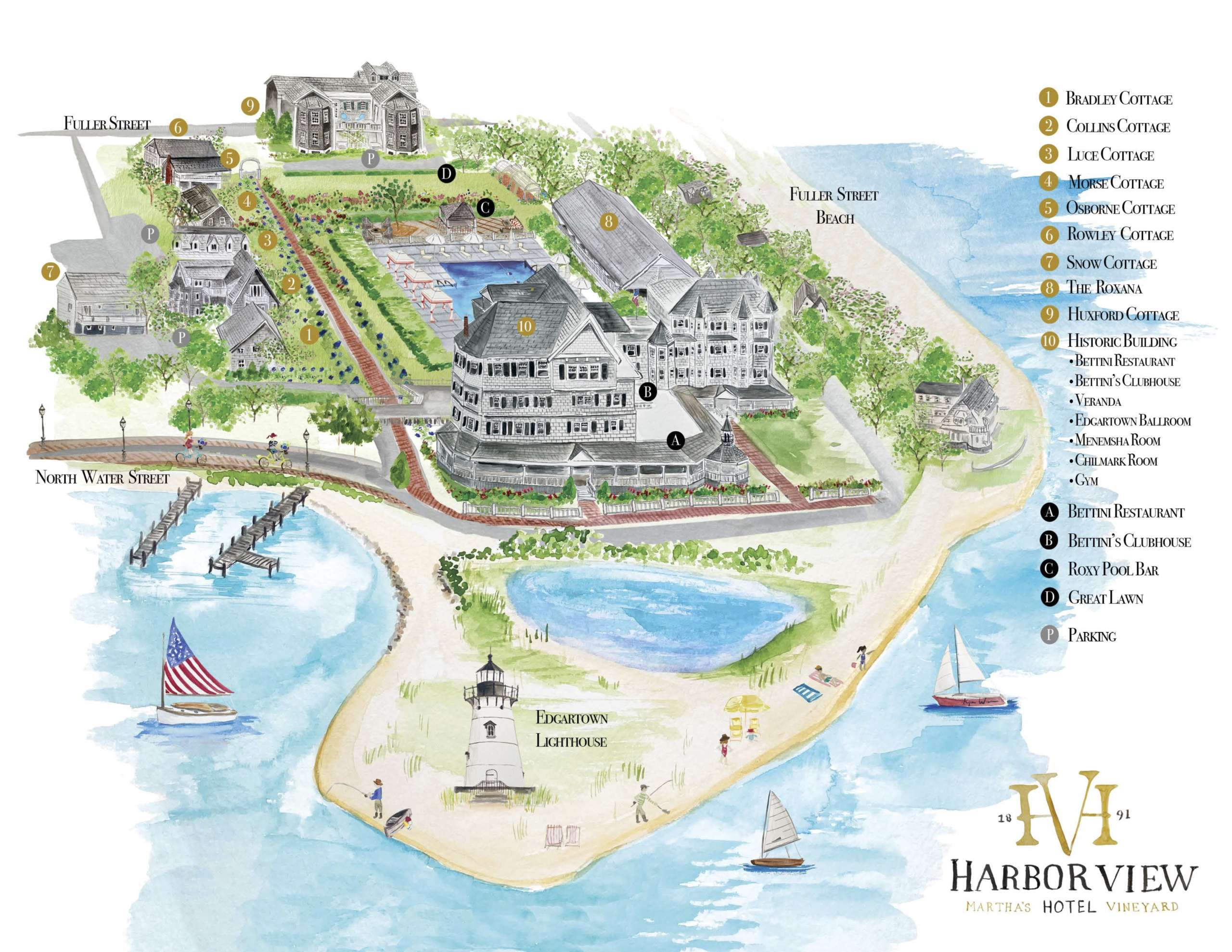 Harbor View Hotel property map