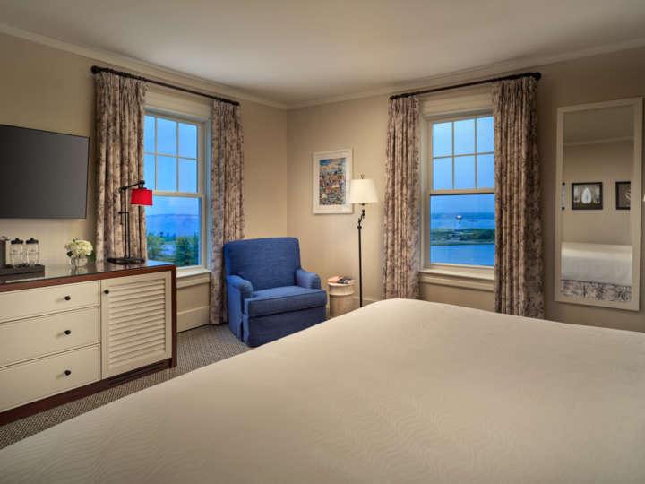 Bedroom views at dusk