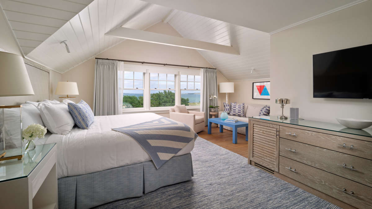 Bedroom suite with a sitting area