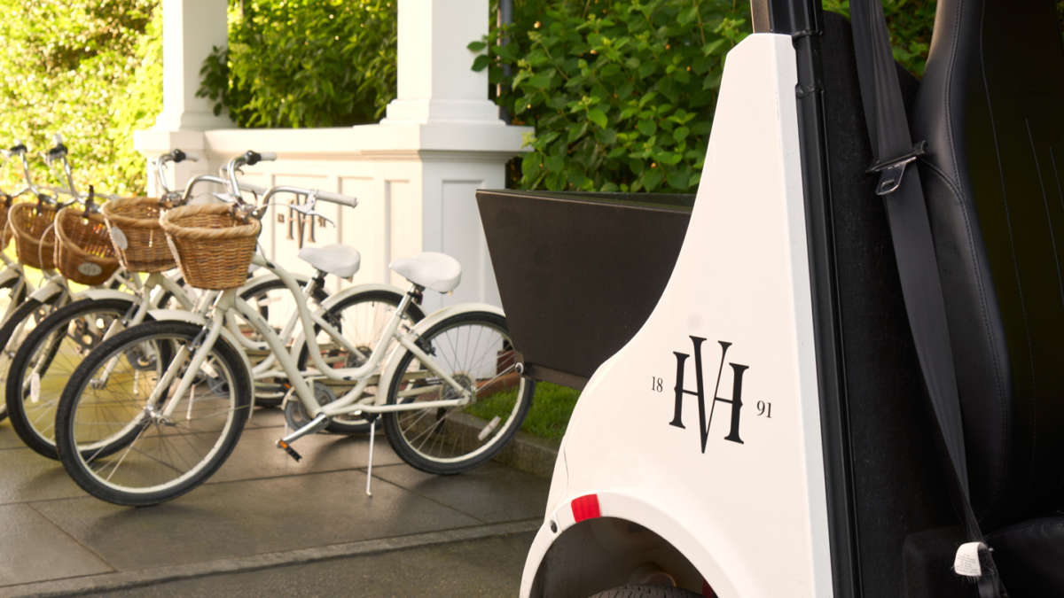 Bicycles and HVH golf cart for use