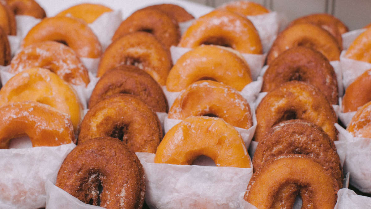 Tray of donuts