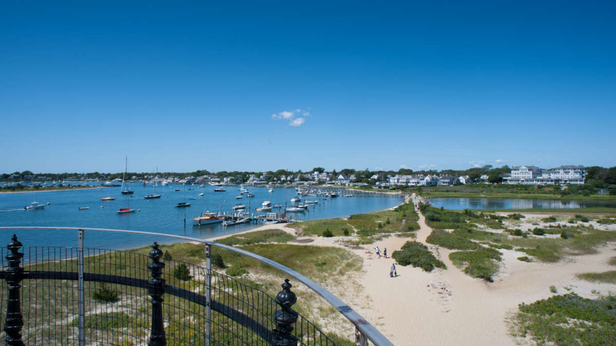 Birds eye view of Edgartown beach