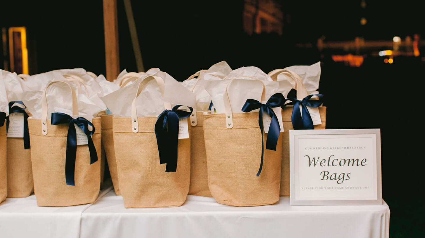 Table of gift bags