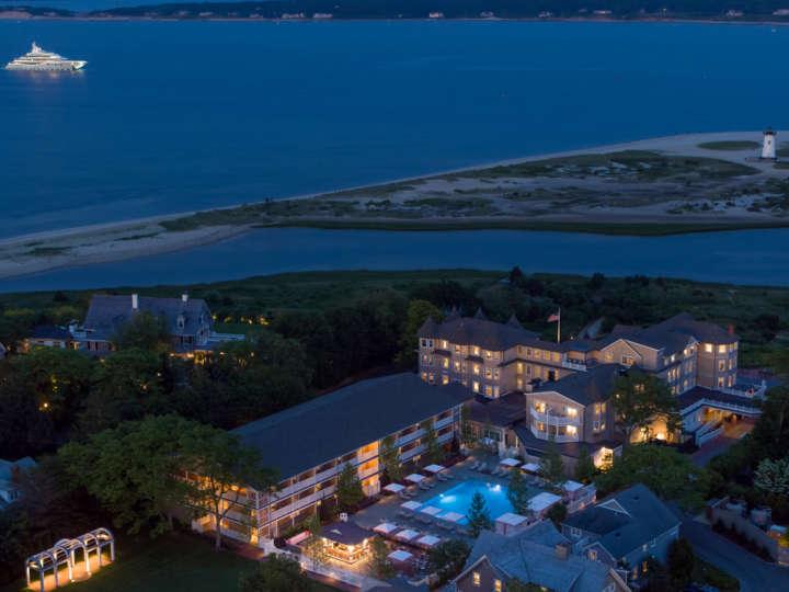 Harbor View Hotel at night