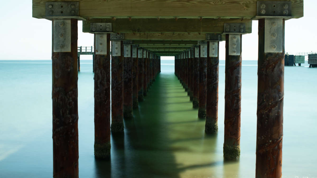 View from under a pier