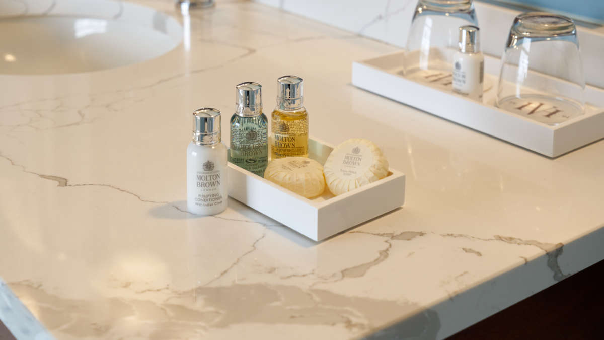Luxe soaps and shampoos