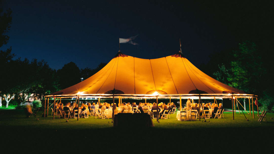 Dinner tent at night