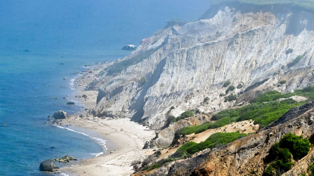 The gayhead cliffs in aquinnah massachusetts.