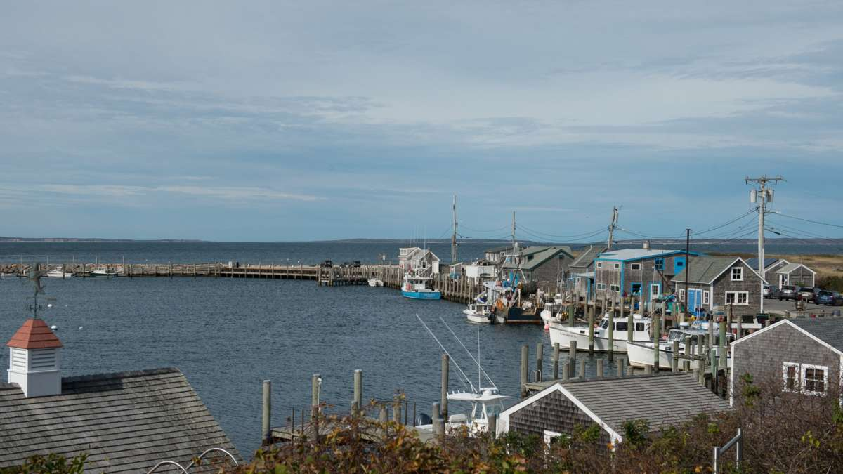 One of the harbors on Martha's Vineyard