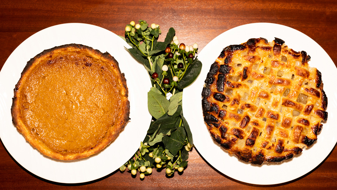 Two Thanksgiving pies