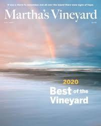 rainbow on a cover of the martha's vineyard magazine 2020