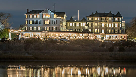 Harbor View Hotel in White Lights