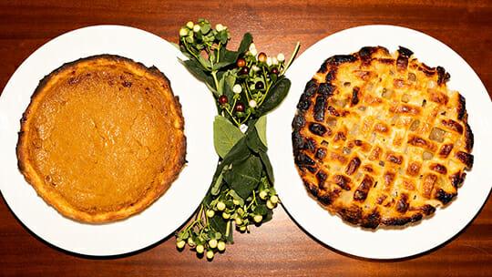 Thanksgiving pie at Bettini