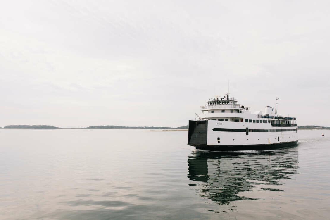 ferry in the ocean