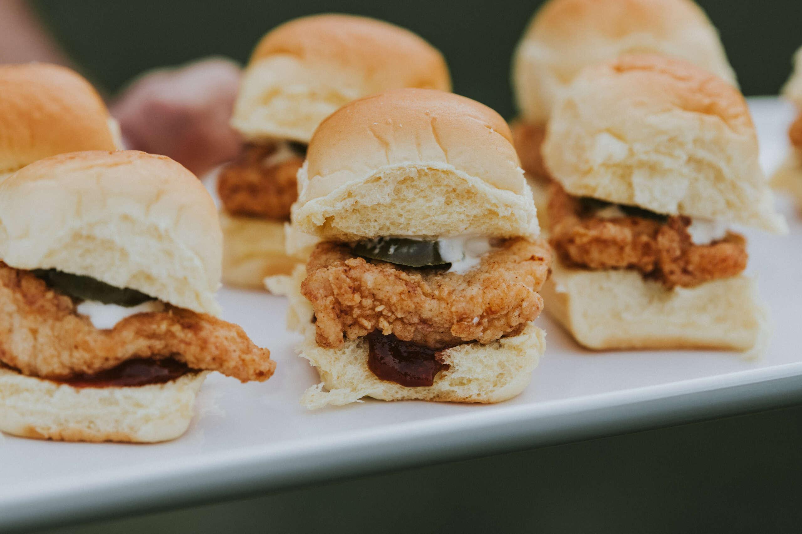 Wedding Appetizer Chicken Sliders